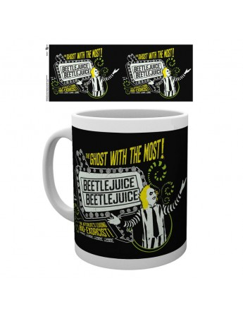 Taza Beetlejuice Ghost With The Most