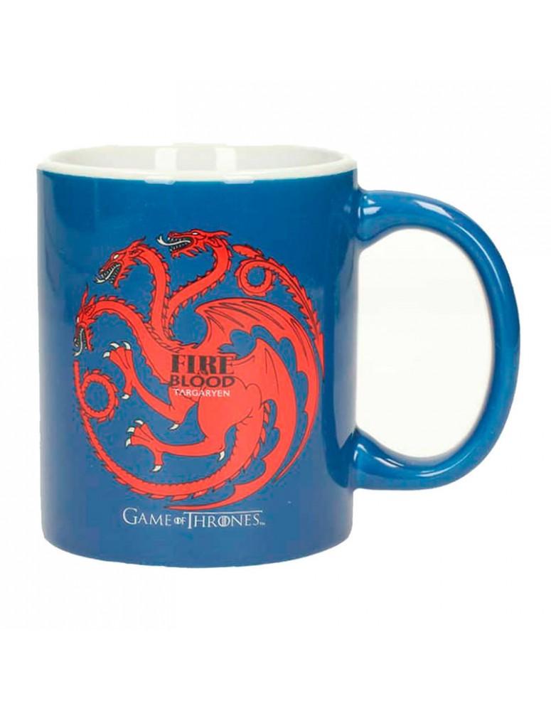 Taza ceramica Targaryen Juego de Tronos negra azul