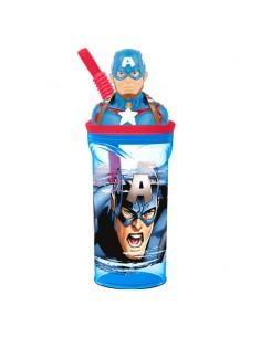 Vaso figura 3D Capitan America Marvel