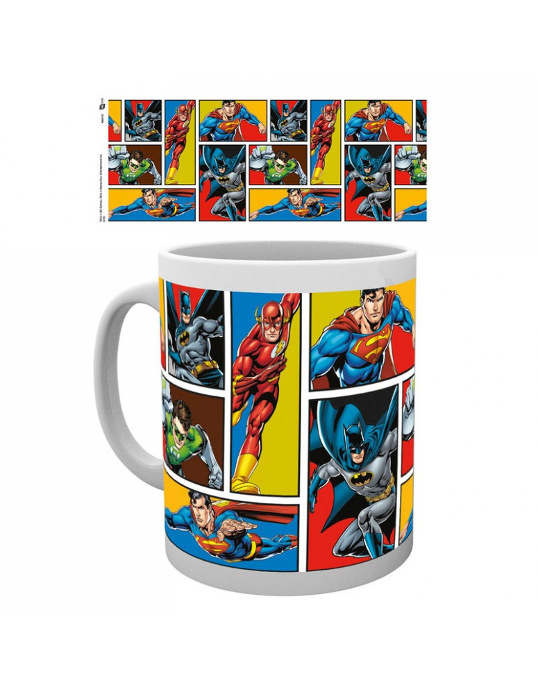 Taza Justice League Grid DC