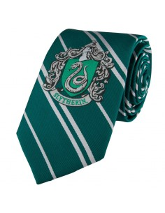 Corbata Slytherin Harry Potter logo tejido