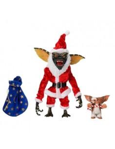 Pack 2 figuras Santa Stripe y Gizmo Gremlins 18cm