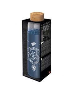 Botella cristal Juego de Tronos funda silicona 585ml