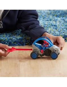 Figura Spidercerdo con vehiculo Spiderman Marvel