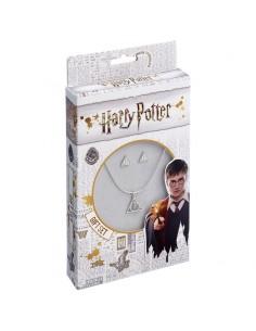 Set colgante pendientes Deathly Hallows Harry Potter