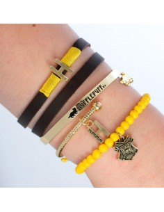Set pulseras Hufflepuff Harry Potter