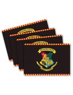 Set 4 manteles Hogwarts Harry Potter