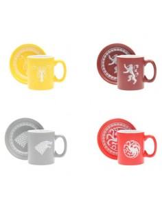 Set 4 mini tazas espresso emblemas Juego de Tronos