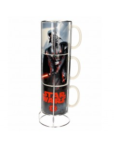 Set 3 tazas apilables Darth Vader Star Wars