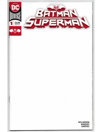 BATMAN SUPERMAN 1 BLANK COVER