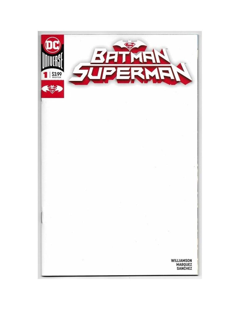 BATMAN SUPERMAN 1 BLANK COVER