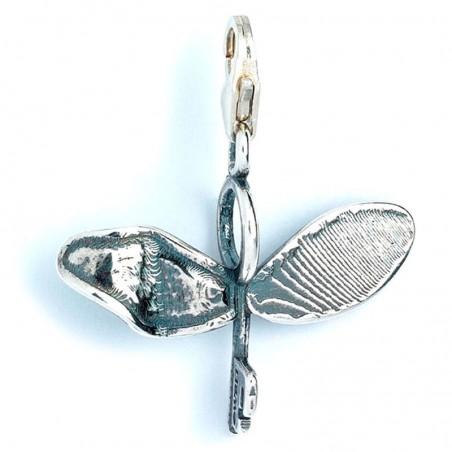 Colgante charm Flying Key Harry Potter plata