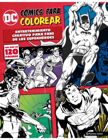 DC COMICS - COLOREA SUPERHEROES 01