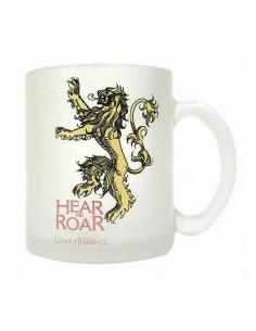 Taza vidrio translucida Lannister Juego de Tronos