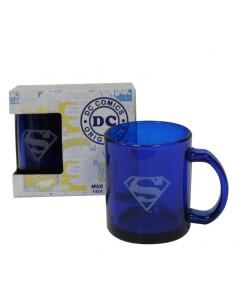 Taza transparente Superman DC Comics